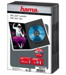 Hama 10x PACK Slim DVD-Hüllen 1er 1-Fach Leer-Hülle Box für CD DVD Blu-Ray Disc