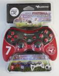 Subsonic Pro Football Controller für PS3 PC soft touch Vibration rot 2, 5m