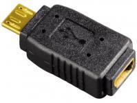 Hama HQ USB-Adapter Wandler Micro-B-Stecker Mini-B-Buchse Kupplung USB 2.0 Gold