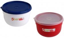 Emsa Superline Schüssel mit Decke 2, 25 L Frischhaltedose rund Aufbewahrungsbox