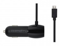 XtremeMac Dual 3, 4A KFZ Car Charger Adapter Micro-USB Lade-Kabel + USB-Port Auto