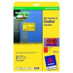 Avery Zweckform L6074 20x Etiketten wiederablösbar A4 199, 6x289, 1mm rot Schilder