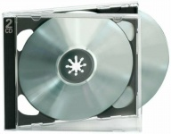 Ednet 10x CD-Hüllen für 2 CDs CD-ROM Leer-Hülle DVD-Hüllen 10er Pack Jewel Case