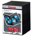 Hama 10x DVD-Hülle 2 DVDs 2er 2-Fach Leer-Hüllen Box CD DVD Blu-Ray BD Disc