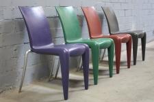 Vitra Louis 20 Stuhl by Philippe Starck Chair Armlehne Blau Grün Rot Grau