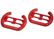 Hama Driving Set 2x Lenkrad Rot Wheel Controller für Nintendo Wii-U Wii / Mini