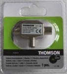 Thomson Radio Splitter TV 1->2 2-Fach Koaxial-Adapter Koax Verteiler 1xIn 2xOut