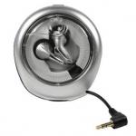 Grundig In-Ear-Stereo-Kopfhörer GHI-110 mit Aufrollbox 3, 5mm Klinke Silber