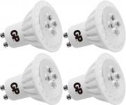 4x PACK GP LED Strahler GU10 6W/35W dimmbar Warmweiß Lampe Glüh-Birne Leuchte