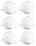 Beast 6x Atemschutzmasken Feinstaubmasken Schutz-Masken Gesichtsmasken Weiß