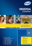 Avery Zweckform 4000x Universal-Etiketten A4 Format 48, 5 x 25, 4 mm Beschriftung