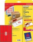 Avery Zweckform 200x Warnhinweis-Etiketten 50x142mm rot Aufkleber Label Versand