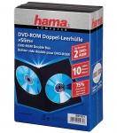 Hama 10x Slim DVD-Hüllen 2 DVDs 2er 2-Fach Leer-Hülle Box CD DVD Blu-Ray Disc