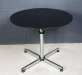USM Haller Kitos Tisch rund Besprechungstisch Beistelltisch 0, 90m schwarz Holz