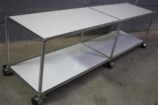 USM Haller Lowboard Regal Medienboard lichtgrau Rollen Sideboard 150er