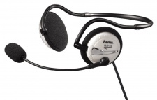 Hama PC Neckband Stero Kopfhörer Headset HS-55 3, 5mm Klinke Mikrofonarm Blau