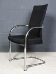 Fritz Hansen Freischwinger Spin Konferenz-Stuhl Chair Besucher 16572 schwarz