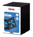 Hama 10x DVD-Hüllen für 2 DVDs 2er 2-Fach Leer-Hülle Box CD DVD Blu-Ray Disc