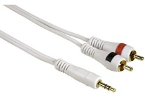 Hama HQ 2m Klinke Cinch AUX Audio Kabel 3, 5mm Klinken-Stecker auf 2x Chinch RCA