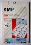 KMP Ordnerrücken Etiketten PT 71 Blau 100 Stück 190x61 mm nicht durchscheinend