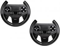 Hama PACK 2x Lenkrad Racing Wheel Controller Halterung für PS4 Wireless Game-Pad