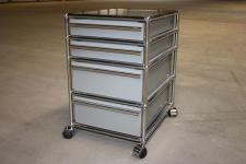 USM Haller Schreibtisch-Container Rollcontainer Ablage mittelgrau 4 Auszüge