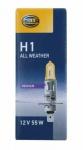 Hella Design H1 Halogen-Lampe Gelb 12V 55W Glüh-Birne PKW Auto Licht P14, 5s