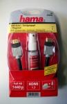 Hama 1.3 HDMI-Kabel 1, 5 m St.-St. + Reinigungsgel + Pflegetuch Full HD 1440p