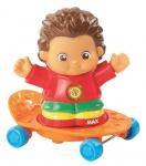 Vtech Kleine Entdeckerbande Figuren - Max mit Skateboard Figur Lern-Spielzeug