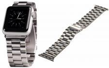 Hama Uhren-Armband Band Gliederband Edelstahl für Apple Watch iWatch 38mm 42mm