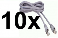 10x PACK Thomson Cat5e 0, 5m Patch-Kabel Netzwerk-Kabel UTP Cat. 5e 5 Lan-Kabel