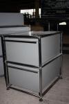 USM Haller Standcontainer Container Ablage 2xSchublade Auszug grau Drucker-Regal