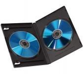 Hama 5x DVD-Hüllen für 2 DVDs 2er 2-Fach Leer-Hülle Box Case CD DVD Blu-Ray Disc
