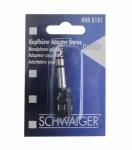 Schwaiger Audio Kopfhörer-Adapter Stereo 3, 5mm Klinke-Kupplung 6, 35mm Stecker