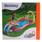 Bestway Spielcenter mit Rutsche Planschbecken interaktiv Pool Spiel-Becken Bälle