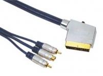 Hama Starter Set für Blu-Ray HDMI Kabel DVD Reinigungsdisc 1, 5 m Blau