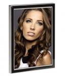 Hama Portraitrahmen Metall schwarz 10x15cm Portrait Bilder-Rahmen Foto Porträt