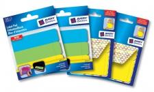 Avery PACK 4x Klebe-Etiketten Haftnotizen-Block Sticky Notes Flags Haftstreifen