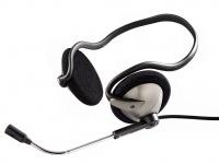Hama PC Nacken Kopfhörer Headset HS 220 Titan Stereo Schwarz 3, 5mm Klinke