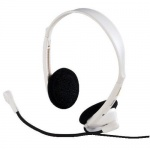 Hama CS 453 PC-Kopfbügel-Headset Computer-Kopfhörer Mikrofon 3, 5mm Klinke weiß