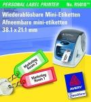 Avery Zweckform R5018 Kennzeichen Etiketten PLP 38, 1x21, 2mm R5000 Label-Drucker