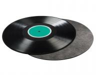 Hama LP Schallplatten-Matte Carbon-Faser Plattenteller-Matte Auflage Maxi Vinyl