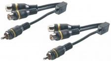 Vivanco Cinch Adapter 2-4 Verteiler Splitter Cinch-Y Cinch-Kabel Stecker Buchse