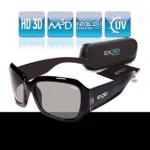 EX3D Damen 3D Brille passiv schwarz für LG Philips Sony Panasonic 3D-TV TV RealD