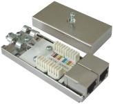 rapid contact Doppel-Einbaumodul Cat 5e 100MBit 2x RJ45 LAN Cat 5 Netzwerk etc.