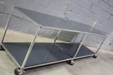 USM Haller Lowboard Regal Medienboard anthrazitgrau Rollen Sideboard 150er