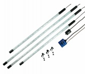 Hama LED Unterboden-Beleuchtung Set Weiß 4x Röhre PKW Neon Licht Tagfahrlicht