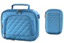 Bundle Hama Bahia HDD Tasche + Memory Card Case Etui Speicherkarten-Tasche Blau