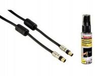 Hama Antennen-Kabel 1, 5m 100db + TV Reiniger Koax-Stecker Koax-Kupplung LCD LED
