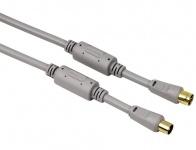 Hama Antennenkabel Koax Kupplung Stecker 5 m 100 dB Silber